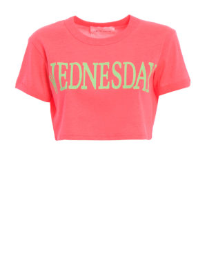 Alberta Ferretti: t-shirts - Wednesday cropped T-shirt