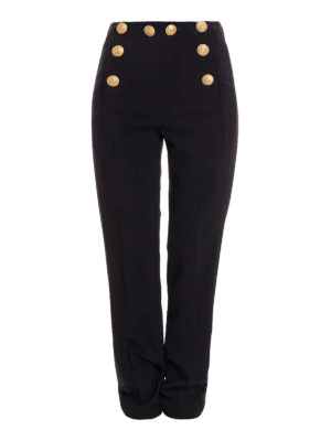 Alberta Ferretti: Tailored & Formal trousers - Marinière style high rise trousers