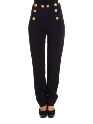 Alberta Ferretti: Tailored & Formal trousers online - Marinière style high rise trousers