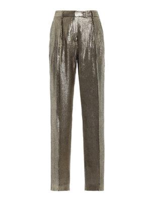ALBERTA FERRETTI: Pantaloni sartoriali - Pantaloni eleganti in seta effetto repltile