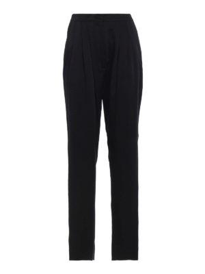 ALBERTA FERRETTI: Pantaloni sartoriali - Pantaloni a vita alta in raso con pinces