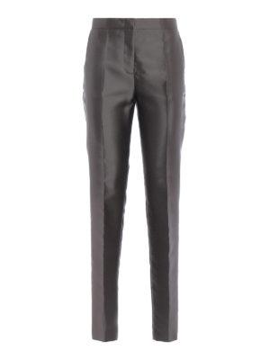 ALBERTA FERRETTI: Pantaloni sartoriali - Pantaloni a sigaretta in taffetà