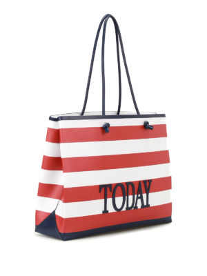 Alberta Ferretti: totes bags online - Rainbow Week Today leather tote