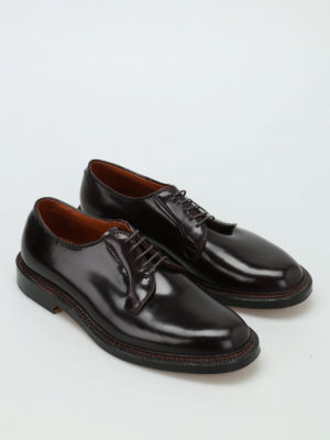 Alden: classic shoes online - Cordovan brushed leather Derby