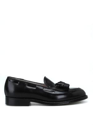 ALDEN: Mocassini e slippers - Mocassini neri in pelle spazzolata Horween