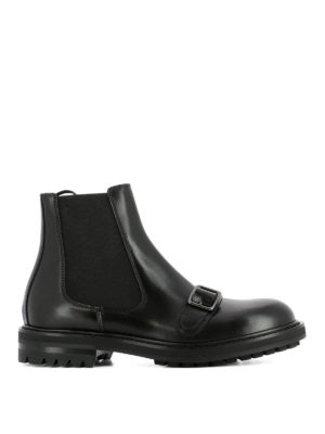 Alexander Mcqueen: ankle boots - Buckle detail Chelsea boots