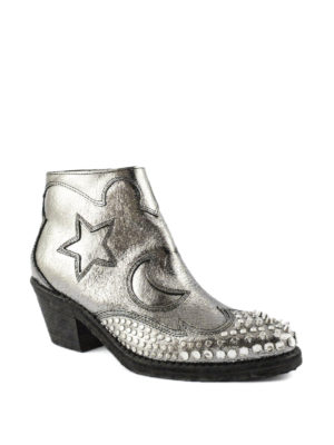 Alexander Mcqueen: ankle boots online - Solstice studded Texan ankle boots