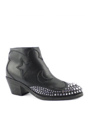 Alexander Mcqueen: ankle boots online - Star and moon studded booties