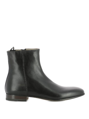 Alexander Mcqueen: ankle boots - Side zip leather ankle boots