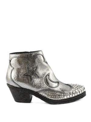 Alexander Mcqueen: ankle boots - Solstice studded Texan ankle boots