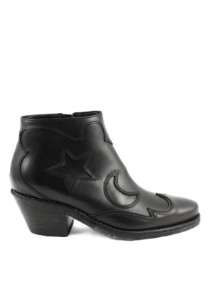 Alexander Mcqueen: ankle boots - Star and moon inlays booties