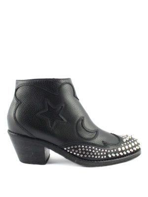Alexander Mcqueen: ankle boots - Star and moon studded booties