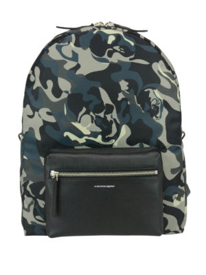 Alexander Mcqueen: backpacks - Camouflage printed backpack