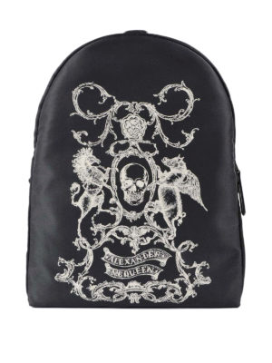 Alexander Mcqueen: backpacks - Coat of Arms nylon backpack