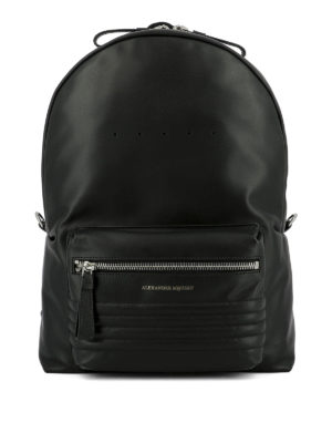 Alexander Mcqueen: backpacks - Leather dome backpack