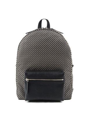 Alexander Mcqueen: backpacks - Mini Skull print nylon backpack
