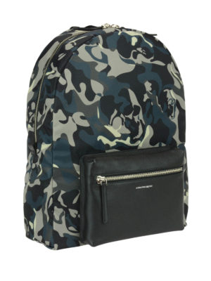 Alexander Mcqueen: backpacks online - Camouflage printed backpack