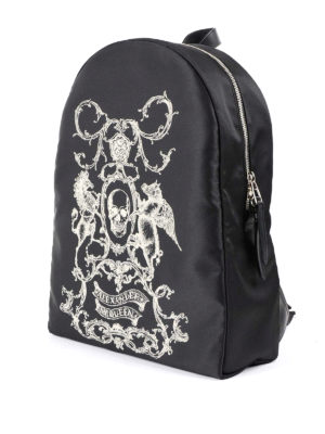 Alexander Mcqueen: backpacks online - Coat of Arms nylon backpack