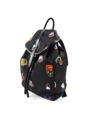 Alexander Mcqueen: backpacks online - Emblem printed nylon backpack