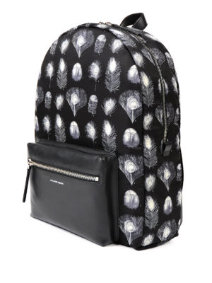 Alexander Mcqueen: backpacks online - Feather print nylon backpack
