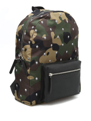 Alexander Mcqueen: backpacks online - Skull Camo print nylon backpack