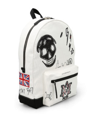 Alexander Mcqueen: backpacks online - UK print canvas backpack