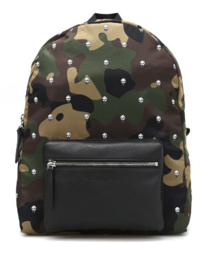 Alexander Mcqueen: backpacks - Skull Camo print nylon backpack