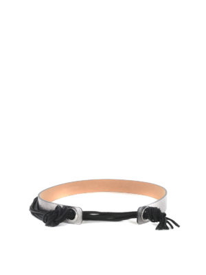 Alexander Mcqueen: belts - LEATHER FRINGE BELT