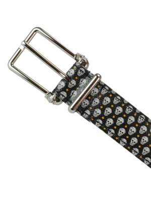 Alexander Mcqueen: belts online - Leather belt with skulls