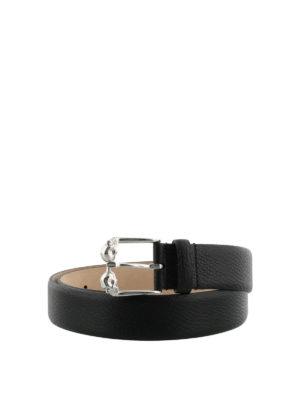 Alexander Mcqueen: belts - Skull leather belt