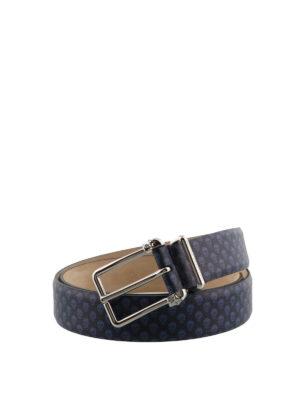 Alexander Mcqueen: belts - Skull printed leather belt