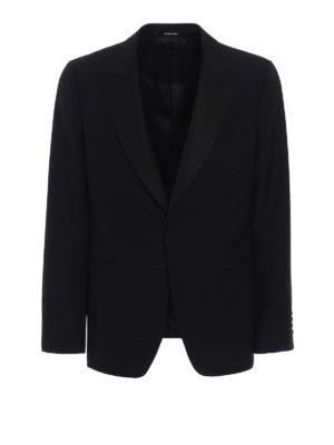 Alexander Mcqueen: blazers - Black wool and mohair crepe blazer