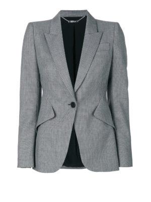Alexander Mcqueen: blazers - Micropatterned wool blazer
