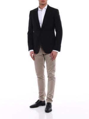 Alexander Mcqueen: blazers online - Black wool and mohair crepe blazer