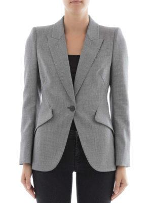 Alexander Mcqueen: blazers online - Micropatterned wool blazer