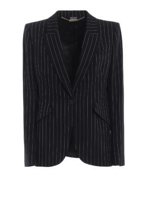 ALEXANDER MCQUEEN: giacche blazer - Giacca monopetto in lana stretch gessata