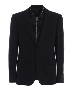 ALEXANDER MCQUEEN: giacche blazer - Blazer in jacquard con plastron