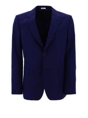 ALEXANDER MCQUEEN: blazers - Wool blend single breasted blazer
