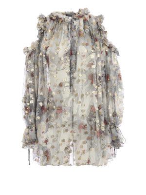 ALEXANDER MCQUEEN: bluse - Blusa over Eve in georgette stampata
