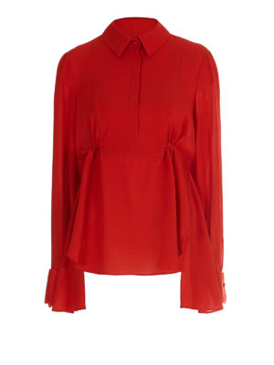 Alexander Mcqueen: blouses - Gathered silk blouse