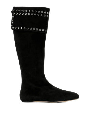 Alexander Mcqueen: boots - Grommet detail suede boots