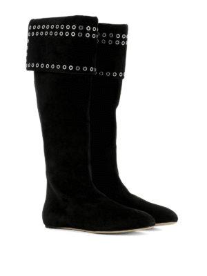 Alexander Mcqueen: boots online - Grommet detail suede boots
