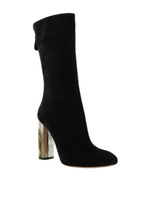 Alexander Mcqueen: boots online - Suede boots with zip closure