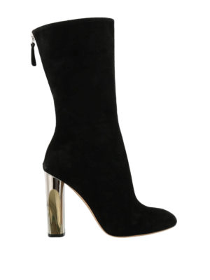 Alexander Mcqueen: boots - Suede boots with zip closure