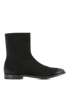 ALEXANDER MCQUEEN: stivali - Stivaletti Chelsea in suede punta spazzolata
