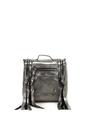 Alexander Mcqueen: bowling bags - Loveless silver leather box bag