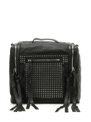 Alexander Mcqueen: bowling bags - Loveless studded leather bag