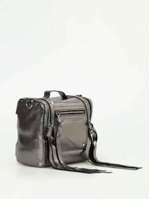 Alexander Mcqueen: bowling bags online - Loveless silver leather box bag