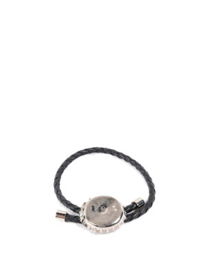 Alexander Mcqueen: Bracelets & Bangles - Carved bottle cup leather bracelet