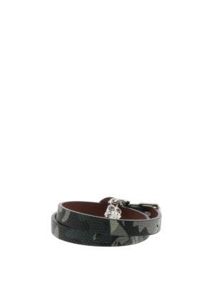 Alexander Mcqueen: Bracelets & Bangles - Double wrap leather bracelet